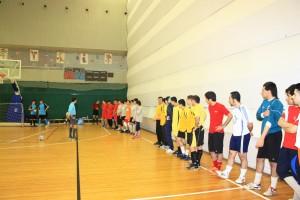 День открытия турнира. Построение команд группы (Б) Бадр- Ихлас- Азия- Персы